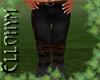 ~E- LeatherNMail Pant BK