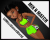 Mix N Match Lime Cow Top