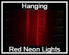 Hanging Red Neon Lights