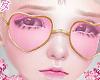d. heart glasses pink