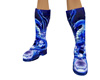 -ND- Blue Wrestle Boots