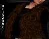 [AZ] Brown Fur Vest LAYE