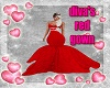 Diva's Red Gown