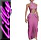 Long Pink beaded dress