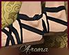 AOP=Black roman sandals