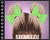 B! Green bow