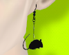 Rat earrings