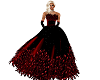 HOTT RED FEATHER GOWN