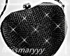 -Mm- black Heart Purse