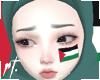 ¤ palestine face tattoo