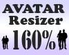 Avatar Resizer 160%