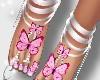 small feet pnk butterfly