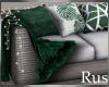 Rus Leaf Wicker Lit Sofa