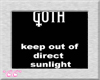 *CC* Goth Keep Out Tee