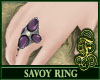 Savoy Ring Purple