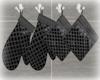 [Luv] Black Pot Holders