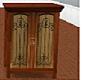 Wood dresser w/deco door