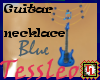 guitar necklace blue