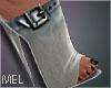 Mel-Buckle Sandals Denim