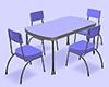 Table Rétro 60's V