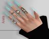 A! Blue Pastel nails