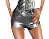 shorts argento