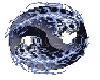 yin yang flaming skulls
