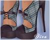 Blue Plaid Heels