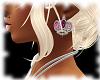 [V] Crown Earrings Pink