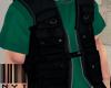 Vest.  Shirt  Green