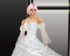silver chiffon ballgown