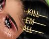 ⓦ KILL EM ALL Hair Pin