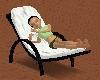 White Cuddle Beach Chair