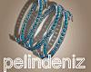 [P] Boho blue bracelets