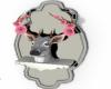 +Floral Deer Head+