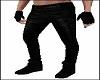 Slim Black Leather Pants