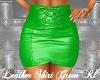 Leather Skirt Green Rl