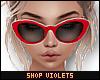 V  Classy Sunglasses Red