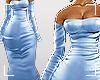 ṩSatin Dress blue