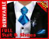 !D King Suit&Shoes Blue