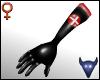 PVC nurse gloves blk (f)