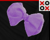 Purple Bow Hair Clip - R