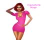 pink designer dress
