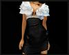 Blk & Wte Ruffle Dress