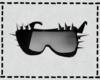 Black Riveted Sunglasses