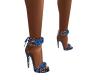 Spotted Blue Rose Heels