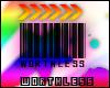 WORTHLESS barcode