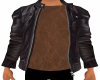 Leather Bomber Brown Top