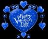 (V) Valentine Heart Blue
