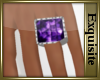 *EE* Amythist Sq Ring